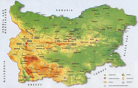 karta bugarske Kulturni turizam – Ljetovalište Zlatni pjasci, Varna, Bugarska karta bugarske
